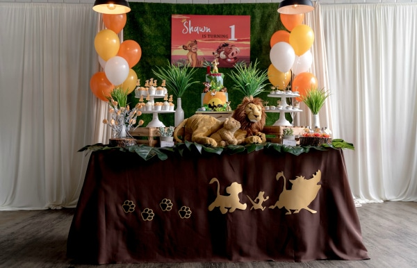 Simba Lion King Dessert Table