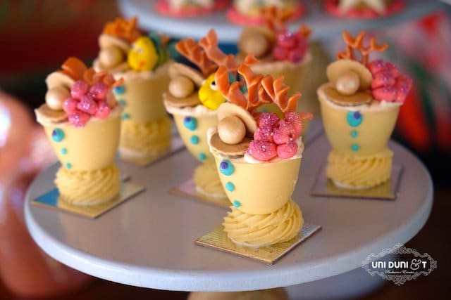 Little Mermaid Birthday Desserts