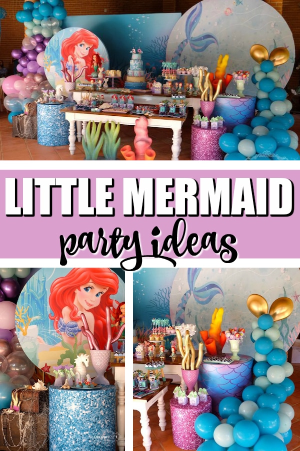 Elegant Little Mermaid Birthday Party Ideas on Pretty My Party