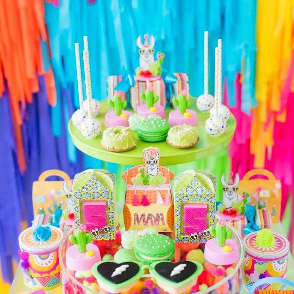 Llama and Cactus Themed Party Desserts