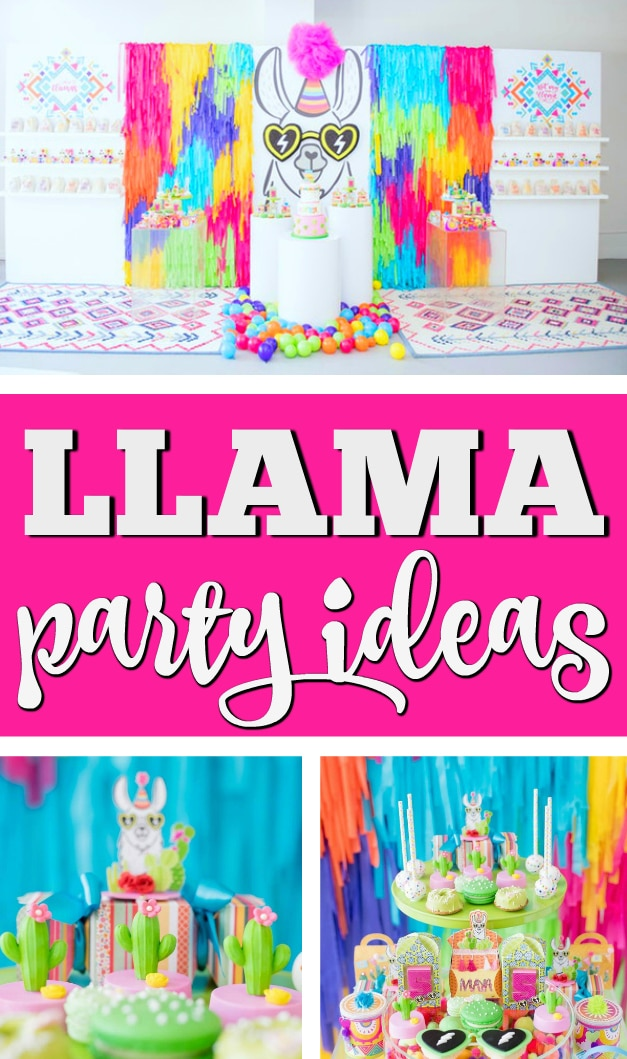 Colorful Llama and Cactus Birthday Party on Pretty My Party