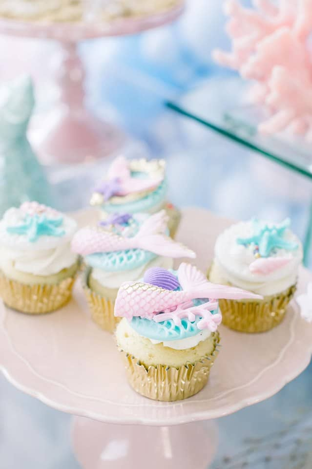 Mermaid Under the Sea Cupcakes