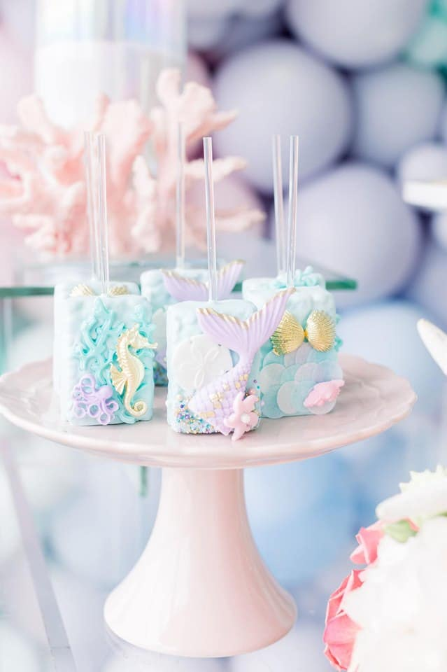 Mermaid Under the Sea Rice Krispie Pops