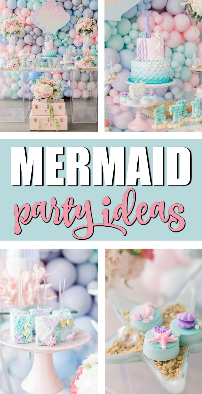 Mermaid Kisses Starfish Wishes Birthday Party on Pretty My Party