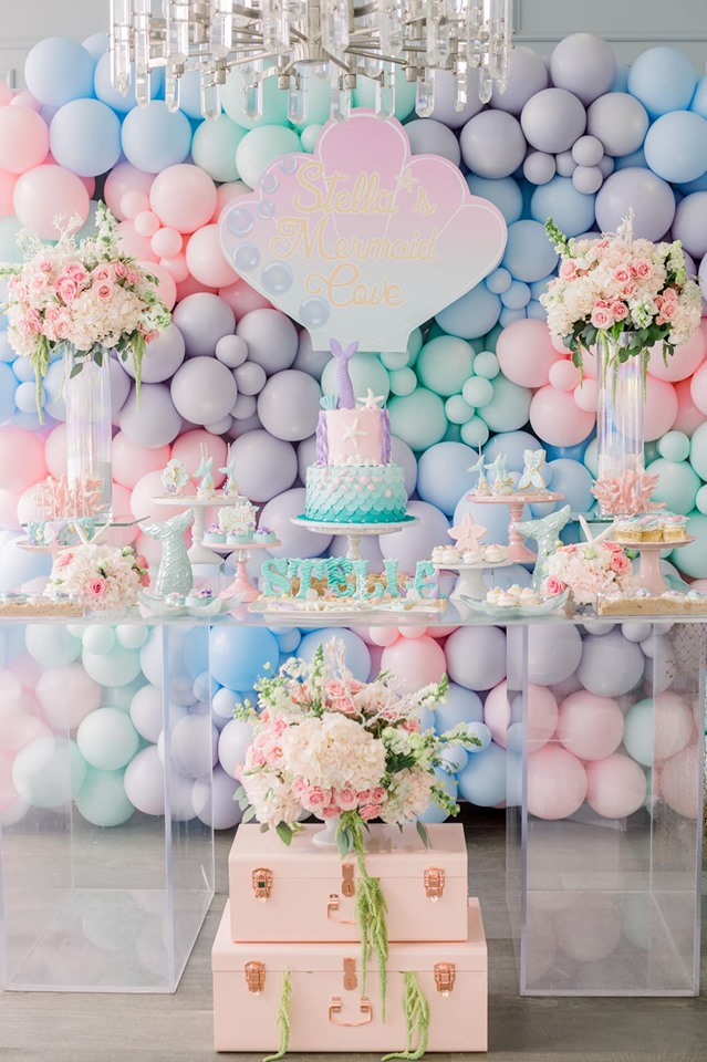 Gorgeous Pastel Mermaid Dessert Table
