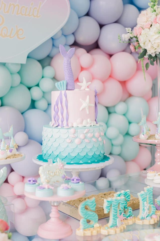 Pastel Mermaid Birthday Cake