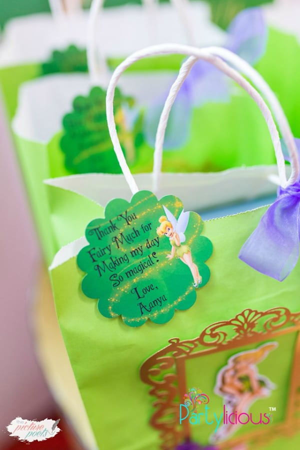 Tinkerbell Party Favor Tag