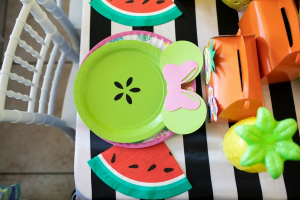Tutti Frutti Minnie Mouse Party Place Setting on Pretty My Party