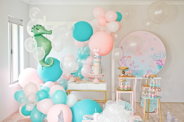 Mermaid Under the Sea Birthday Party Ideas on Pretty My Party