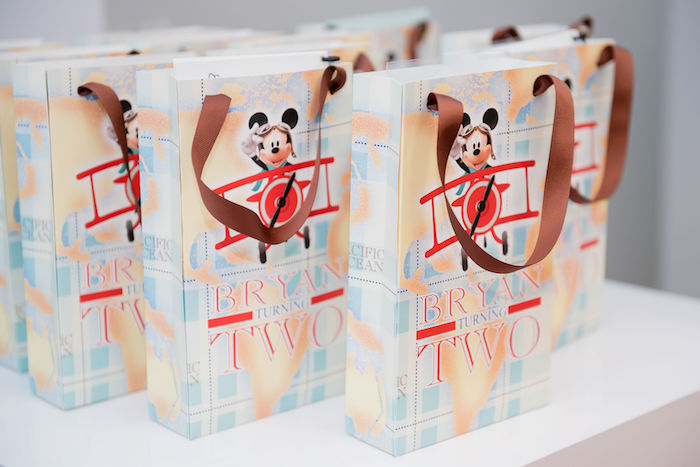 Aviator Mickey Mouse Favor Bags