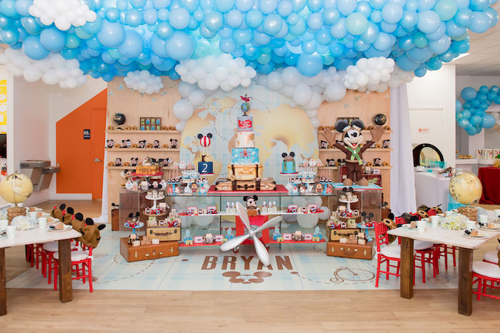 Cool Aviator Mickey Mouse Birthday Party