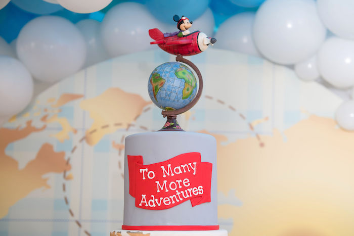 Mickey Mouse Aviator Cake Topper