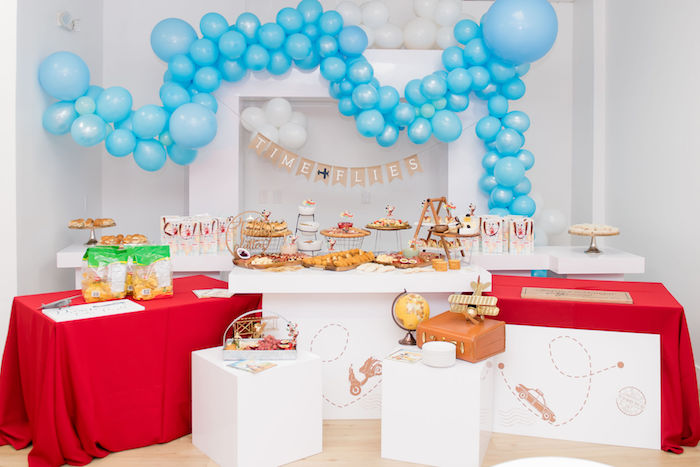 Aviator Mickey Mouse Party Time Flies Food Station