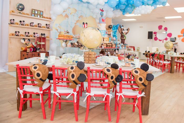 Aviator Mickey Mouse Party Table