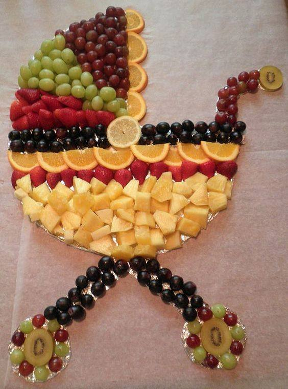 Baby Carriage Fruit Platter