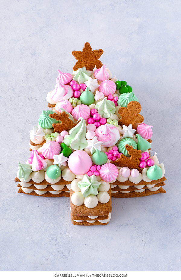 Christmas Tree Cream Tart Cake