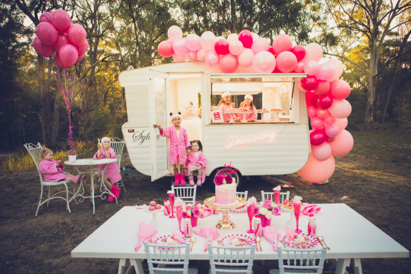 Pretty Pink Glamping Themed Party