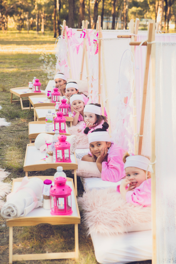 Pink Glamping Party Tents