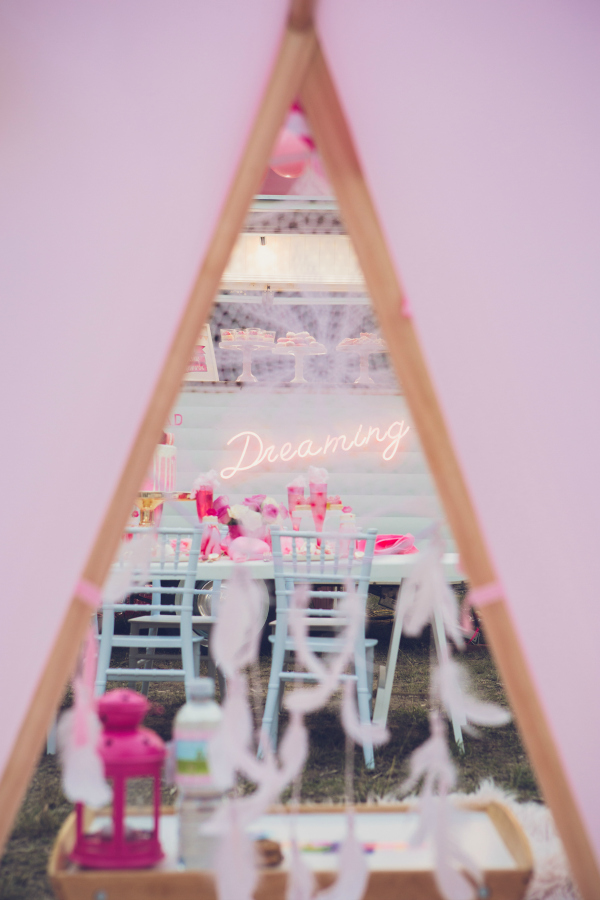 Pink Glamping Tents