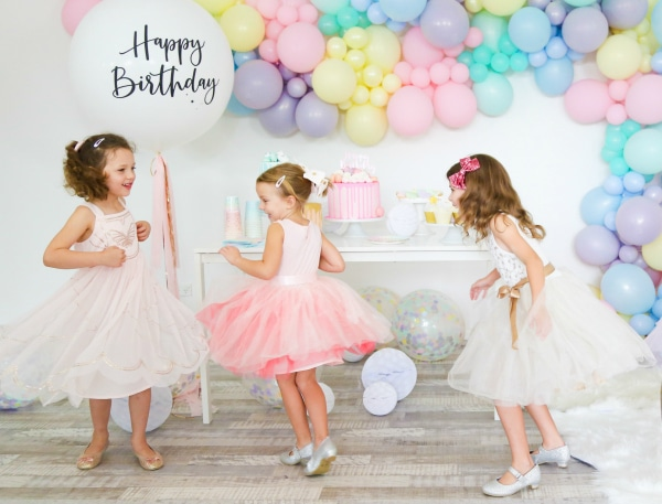Childrens Pastel Balloon Party Ideas