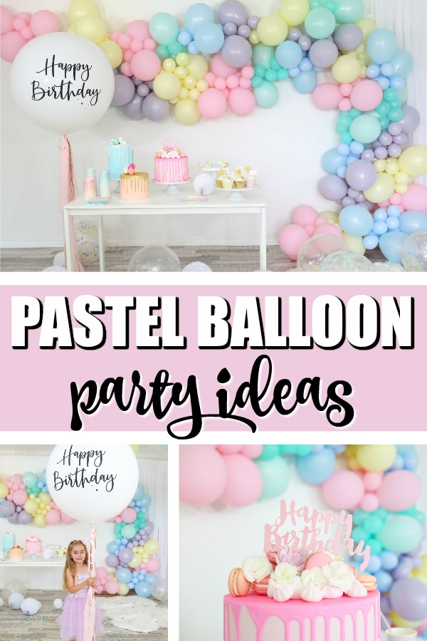 Sorbet Pastel Balloon Themed Party on Pretty My Party