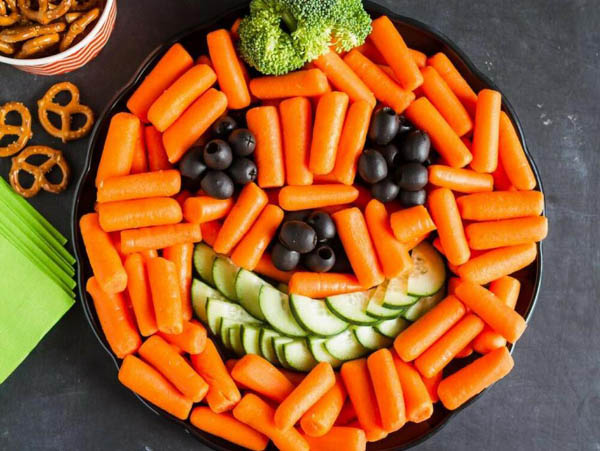 Pumpkin Vegetable Tray Idea