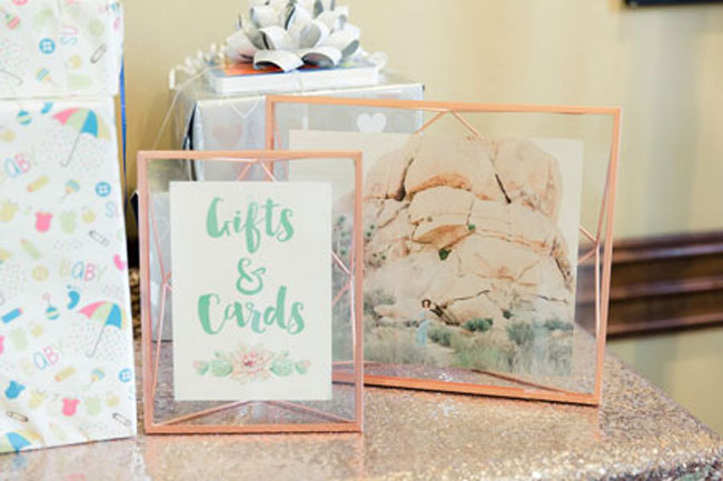 Desert Bloom Baby Shower Gift Table Sign