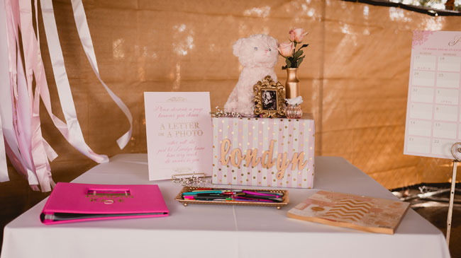 Pink and Gold Princess Themed Baby Shower