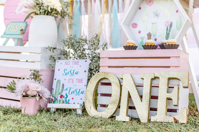 Cactus Themed First Birthday Party Decor
