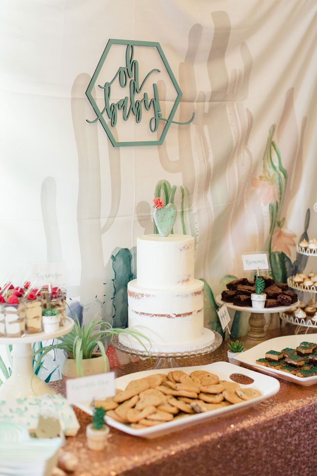 Desert Bloom Baby Shower Ideas
