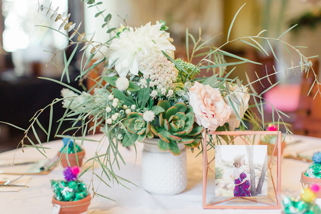 Desert Bloom Baby Shower Centerpieces