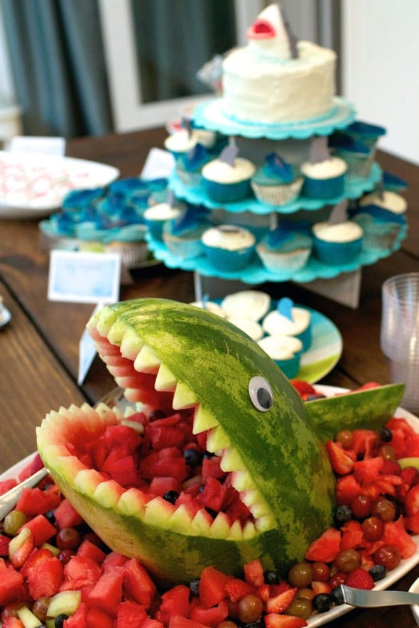 Shark Fruit Platter Display