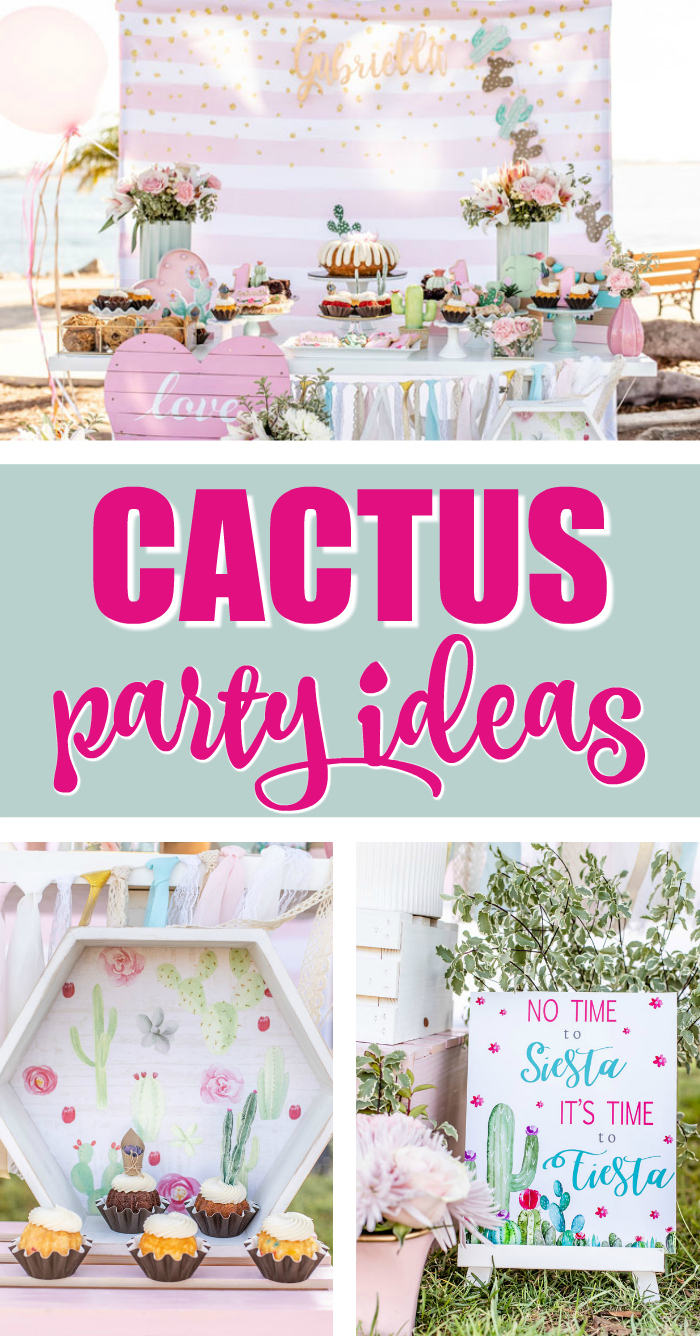 Pretty Cactus Themed First Birthday Party Ideas on Pretty My Party