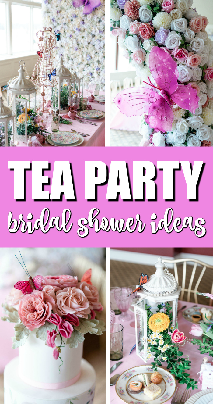 Gorgeous Floral High Tea Bridal Shower Pretty My Party Party Ideas