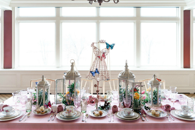 High Tea Bridal Shower Table