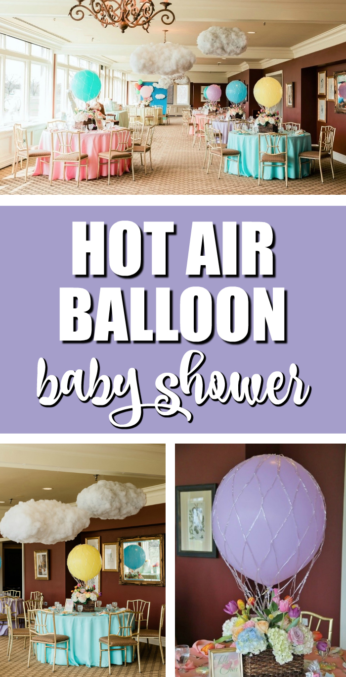 Hot Air Balloon Baby Shower on Pretty My Party