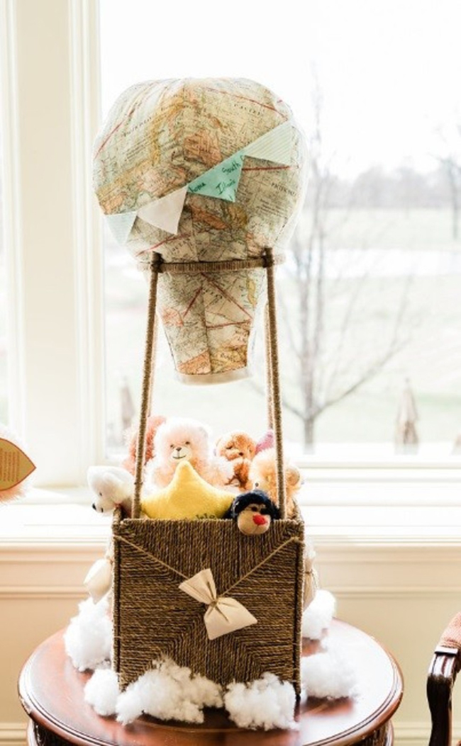 Hot Air Balloon Basket For Baby Shower