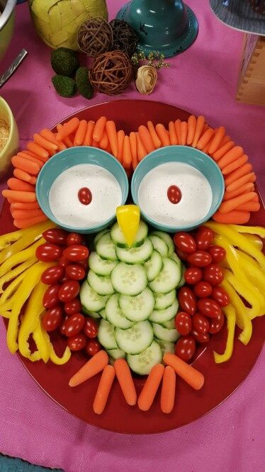 Owl Vegetable Platter