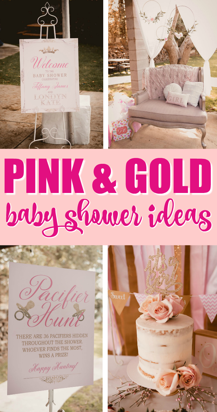 Pink and Gold Princess Baby Shower Ideas on Pretty My Party