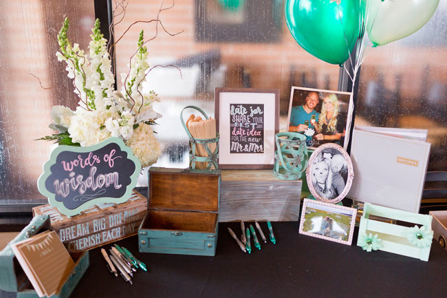 Mint To Be Bridal Shower Words of Wisdom Table