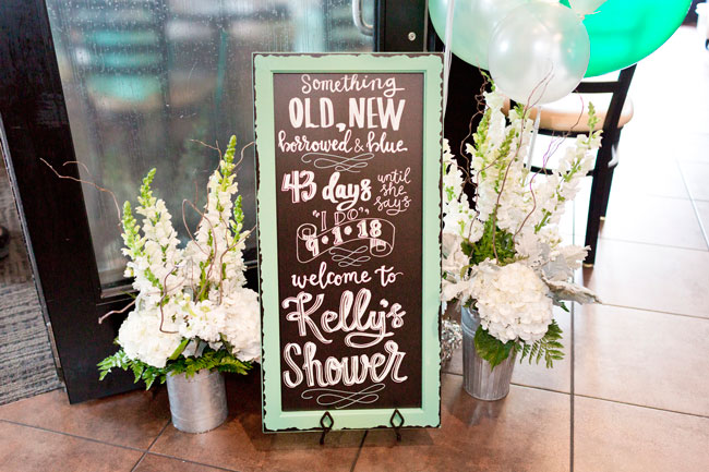 Mint To Be Bridal Shower Sign