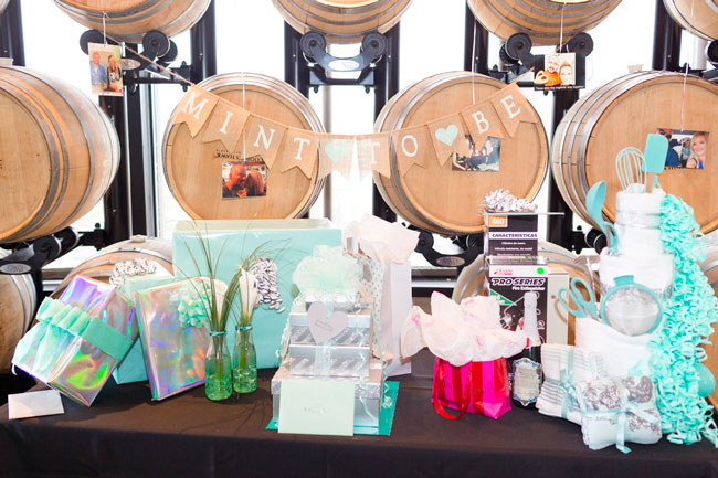 Mint To Be Bridal Shower Gift Table