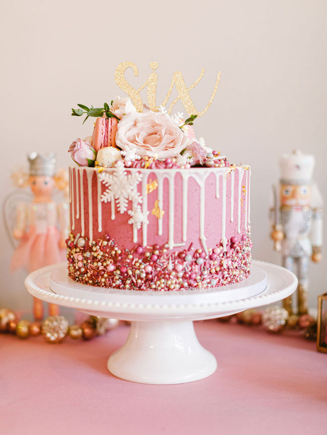 Pink Nutcracker Birthday Cake