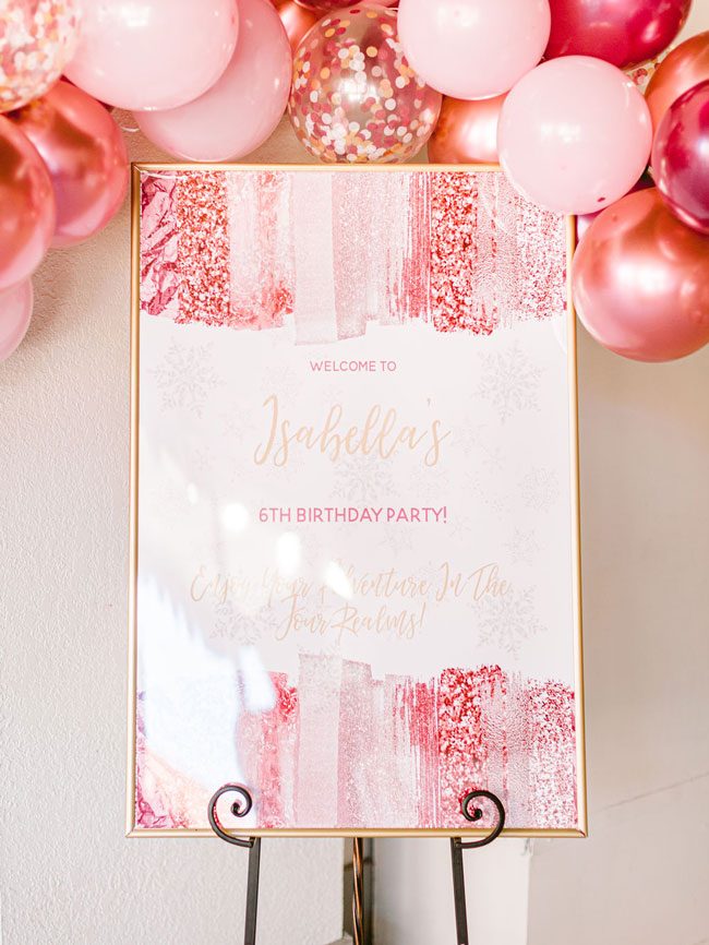 Pink Nutcracker Party Sign