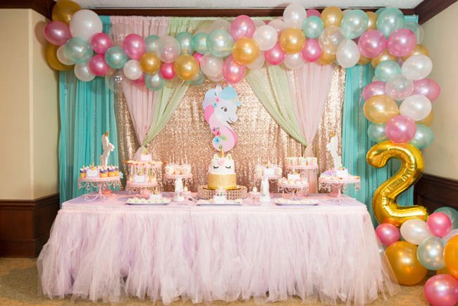 Sparkling Unicorn Birthday Party on Pretty My Party