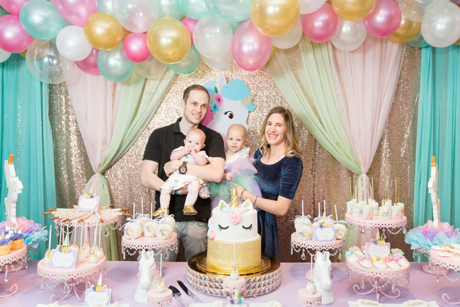 Sparkling Unicorn Birthday Party Sweets Table