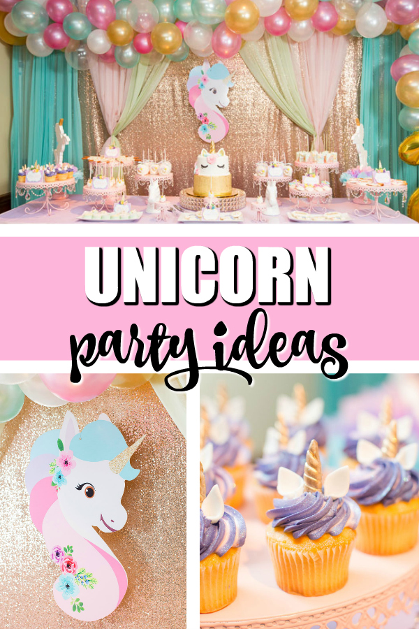 Sparkling Unicorn Birthday Party Ideas on Pretty My Party