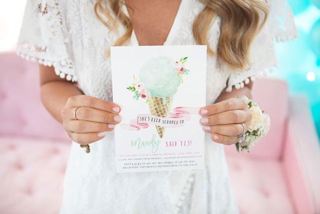 She Got Scooped Up Bridal Shower Invitation
