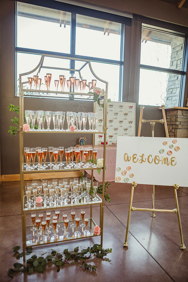 Ice Cream Themed Bridal Shower Champagne Bar
