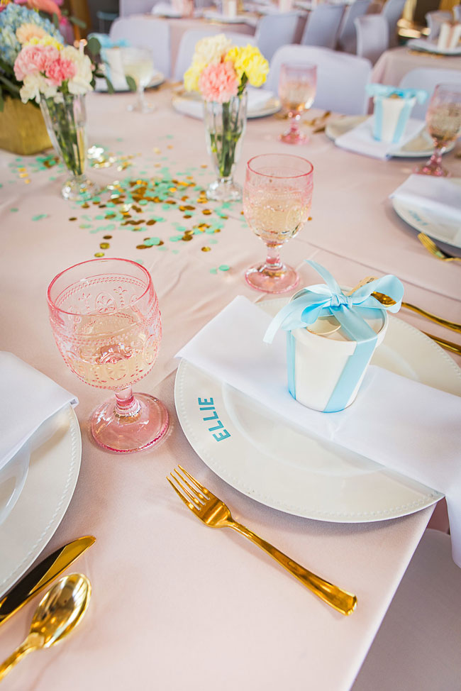 She Got Scooped Up Bridal Shower Place Setting